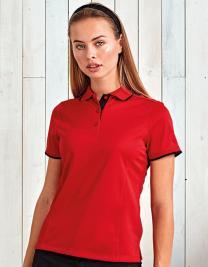 Ladies Contrast Coolchecker Polo